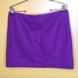 J. Crew Purple Mini Skirt, Size S